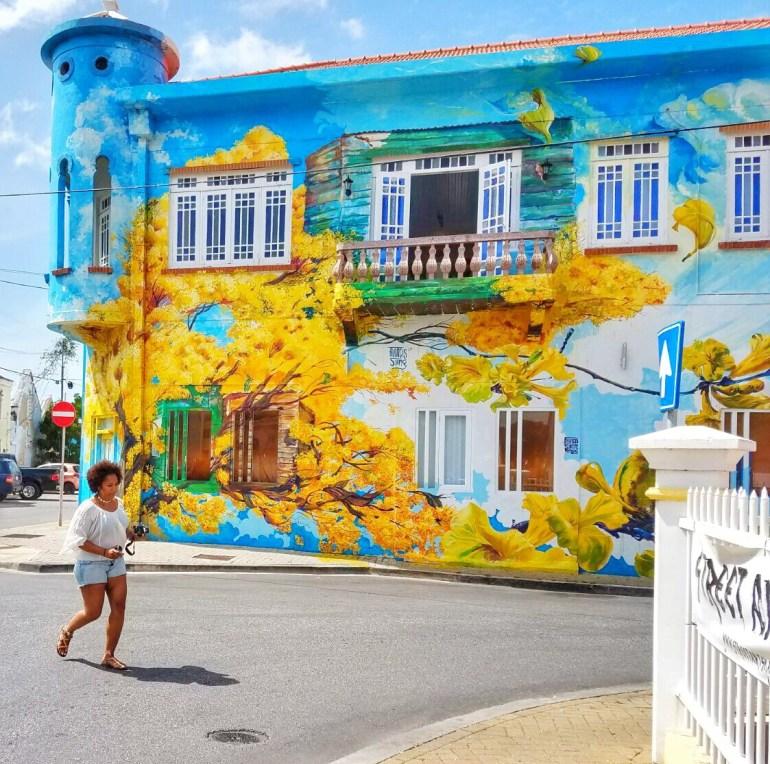 Kibrahacha mural in Scharloo, Curacao