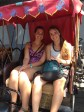 The roomie and I on a rickshaw ride in Beijing!