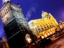 Prague Municipal House and Powder Gate