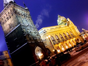 Prague Municipal House and Powder Gate