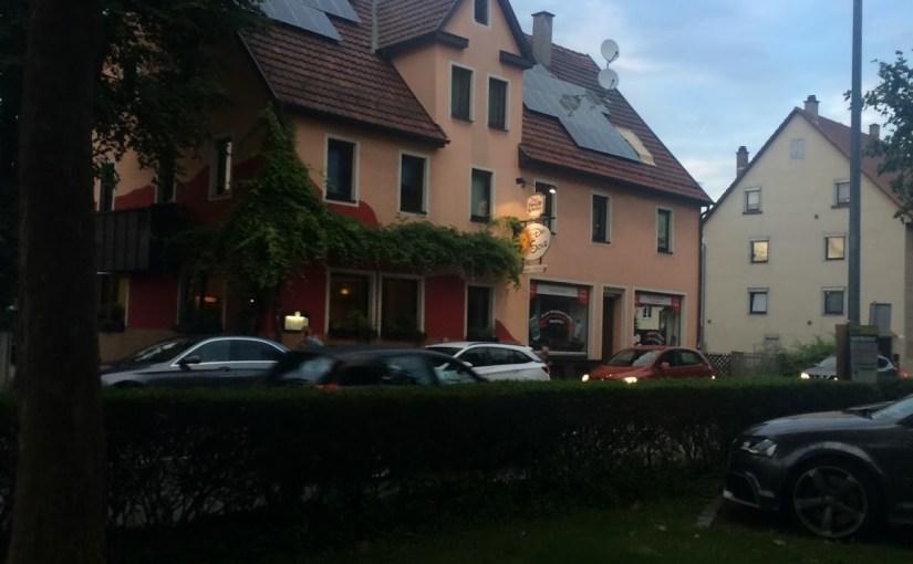 Dinner at Del Sole in Herrenberg…