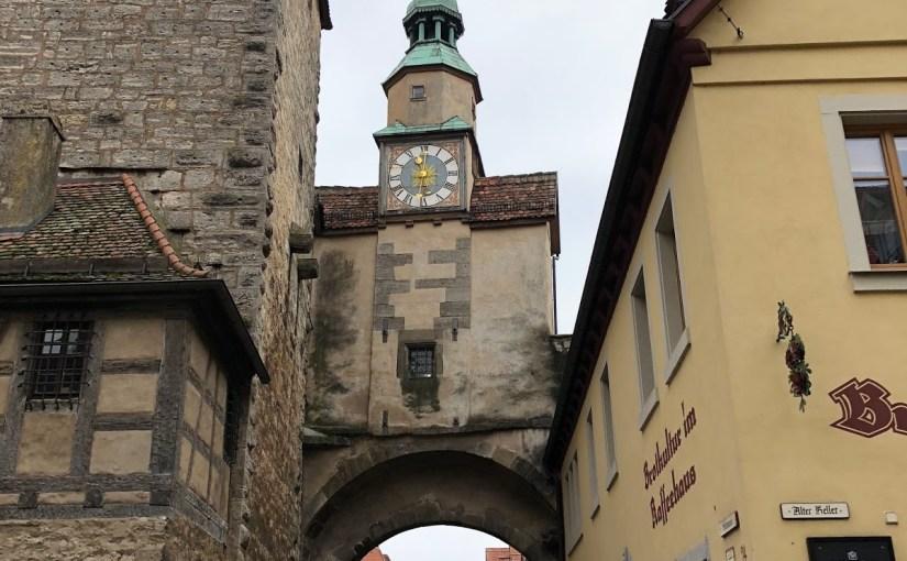 Rothenburg ob den Tauber: Part three– Shopping, sausages, Schweinshaxe, Schneeballen, and strolling the wall…