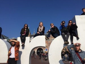 Sitting on top of the iAmsterdam sign - Amsterdam, Netherlands