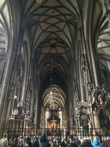 The inside of Stefansdom Cathedral - Vienna, Austria