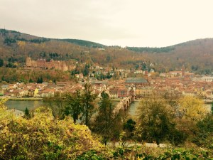 Overlooking the old city and castle - Heidelberg, Germany