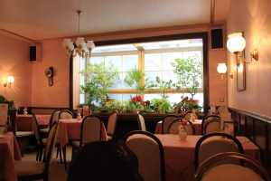 The inside of Café Schäfer was so cute and pink - Triberg, Germany
