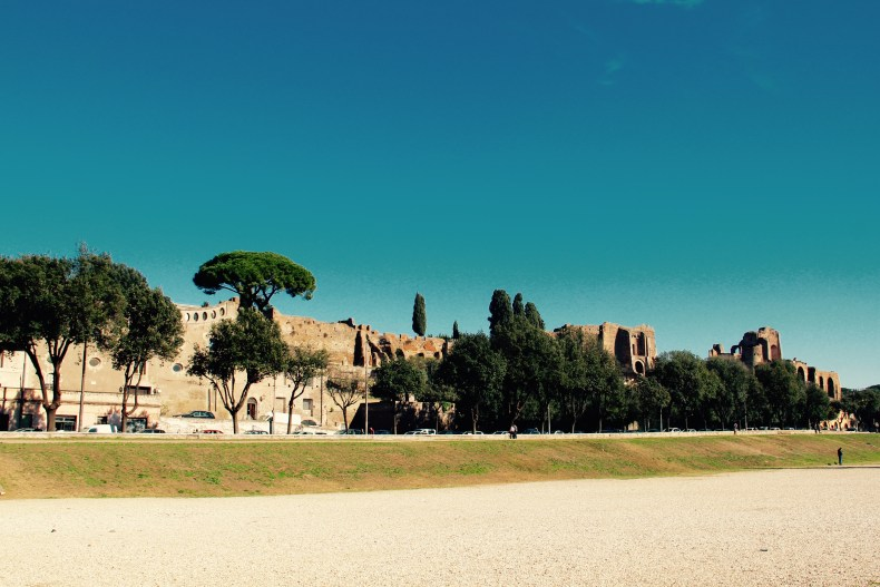 The Roman Forum as seen from Circus Maximus - Rome, Italy