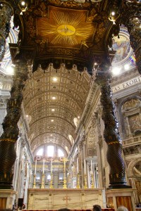 The inside of St. Peter's Basilica is absolutely stunning - Vatican, Italy
