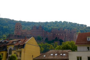The Schloß as seen from the river Neckar - Heidelberg, Germany