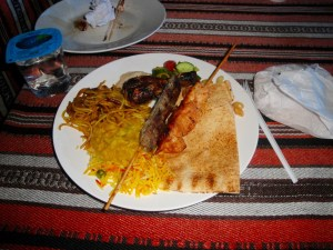 My delicious meal at the desert safari - Dubai, UAE