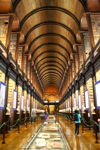 The inside of the library is stunning and very grand - Dublin, Ireland