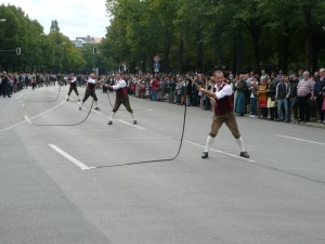The men whipped these whips around for such a long time. It was mesmerizing and amazing to watch and hear - Munich, Germany