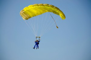 Jumping out of a plane? That's something a bit outside of most comfort zones.