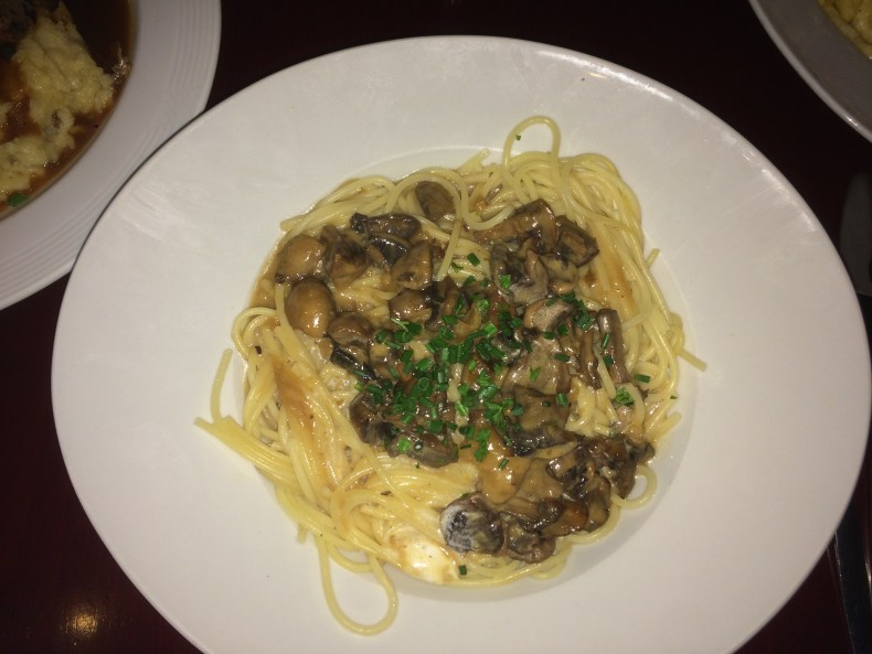 Perkeo in Heidelberg has the best mushroom cream spaghetti
