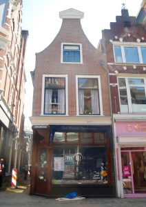 The outside of the Corrie Ten Boom House. The bottom is still a watch shop but you can tour the inside - Haarlem, Netherlands