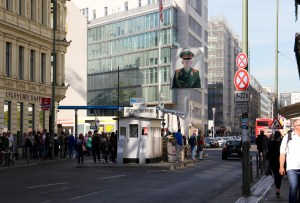 Checkpoint Charlie guardhouse - Berlin, Germany