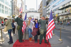 Cheesing at Checkpoint Charlie - Berlin, Germany