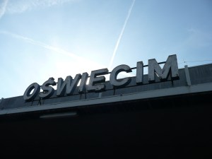 The front of the station that is closest to Auschwitz - Oswiecim, Poland