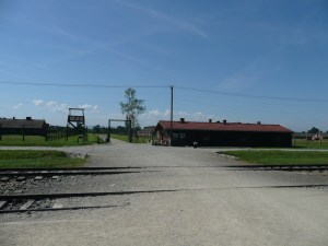 This is the infamous sorting platform where families were torn apart forever - Auschwitz, Poland