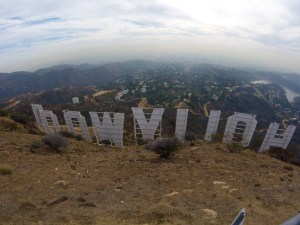 A perk of having a GoPro is I can get a picture of the whole sign! - Hollywood, USA