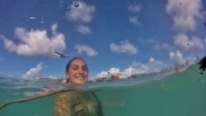 Bobbing in the water hanging out with airplanes - Maho Beach, St. Maarten
