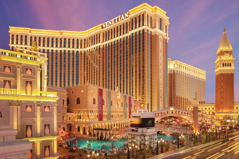 The Venetian Hotel in Las Vegas has underground canals to truly make you feel like you're in Venice!