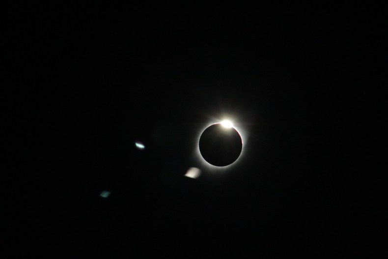 The wedding ring as the sun disappeared behind the moon