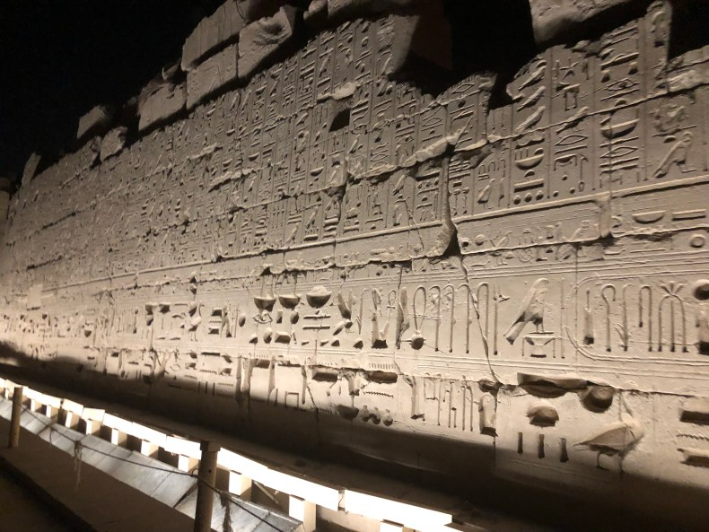 It's surprising how deep the carvings are in the ancient Egyptian walls. No wonder they've lasted for so long!