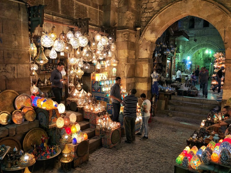 This famous archway at the Khan el Khalili Soul has been there for hundreds of years. It's the most beautiful part of the soul for sure