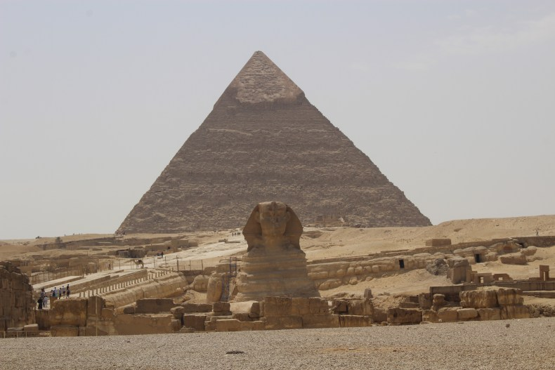 The pyramids and the Sphinx of Giza!