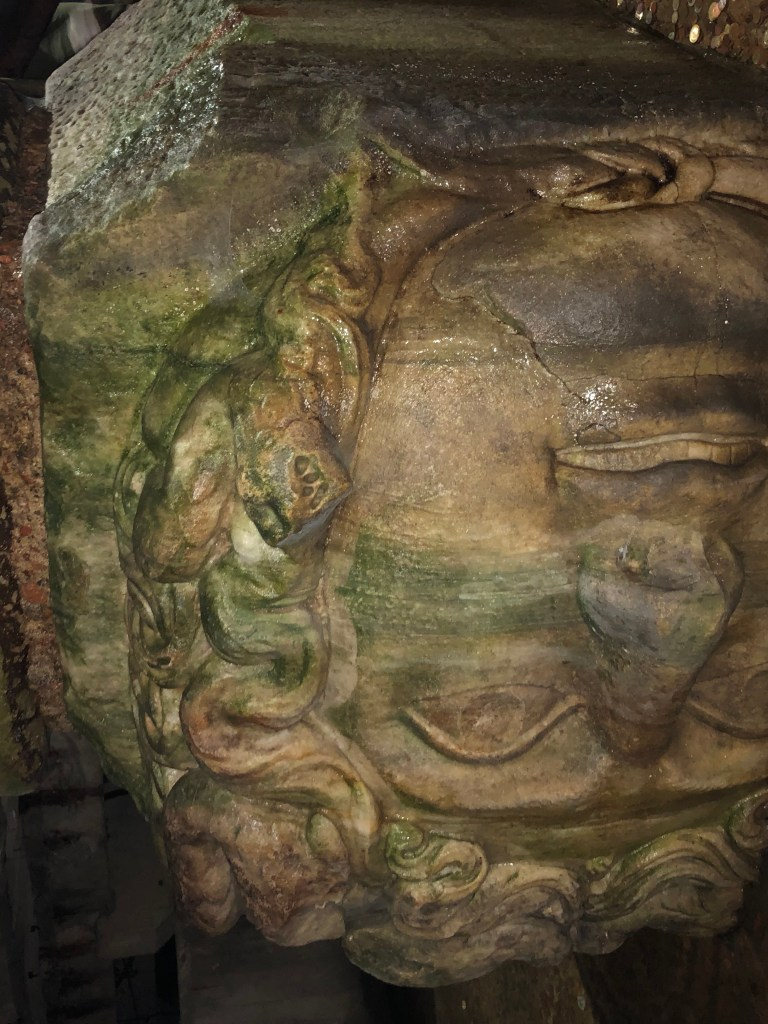 Medusa at Basilica Cistern Istanbul - The Traveling Storygirl