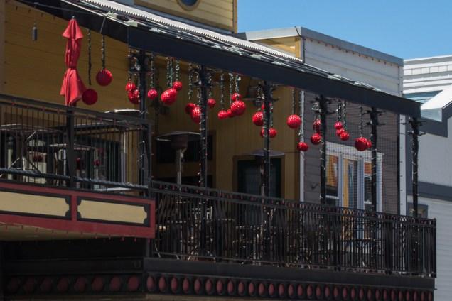 Hanging Red Balls