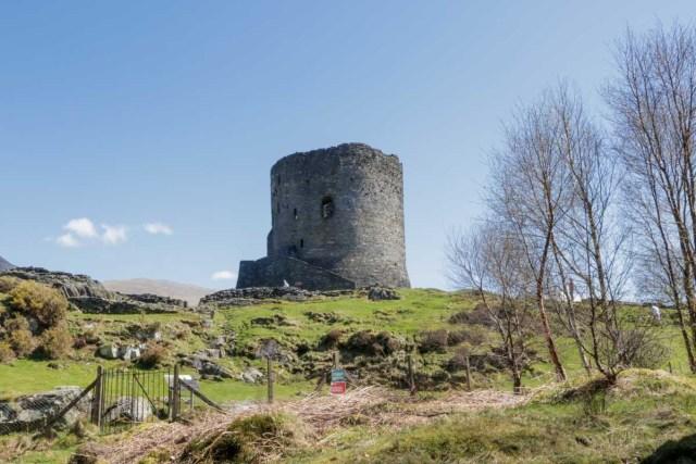 Dolbadarn Castle in Llanberis, Wales Dolbadarn Castle in Llanberis, Wales - Scotland Wales London Itinerary BritRail Pass