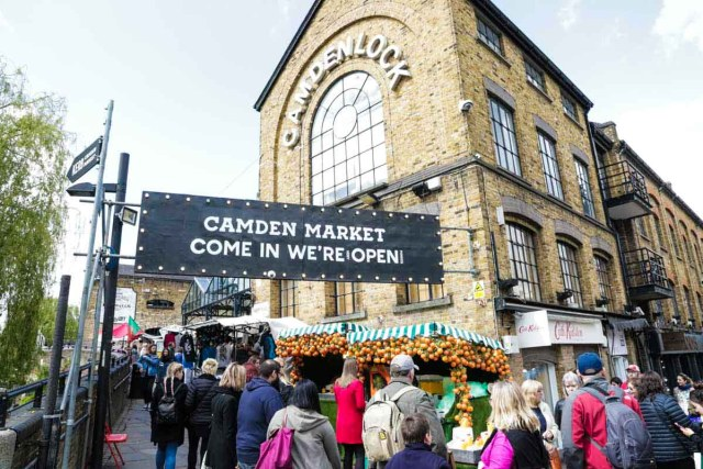 Entrance to Camden Market in London - Scotland Wales London Itinerary BritRail Pass