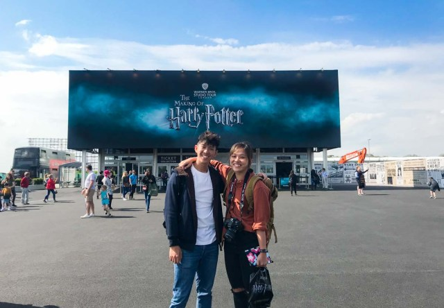 Entrance to Warner Brothers Studios Harry Potter in London - Scotland Wales London Itinerary BritRail Pass