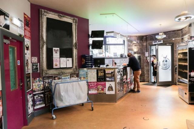 Main Lobby of Budget Backpackers Hostel in Edinburgh - Scotland Wales London Itinerary BritRail Pass