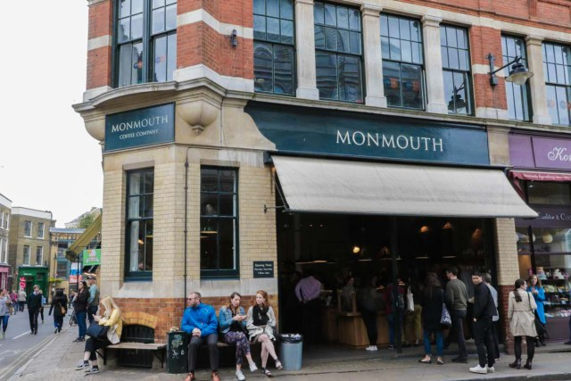 Monmouth Coffee a Short Walk from Borough - Scotland Wales London Itinerary BritRail Pass