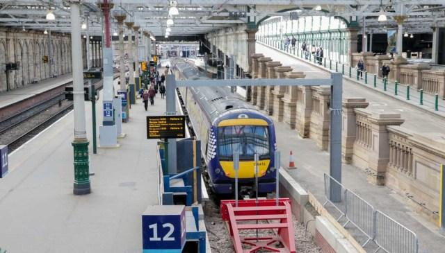 Platform at Edinburgh Waverley Station - UK Budget Guide in Edinburgh, Wales and London