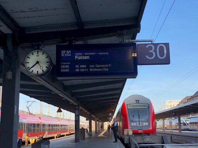 Train to Fussen- eurail pass guide