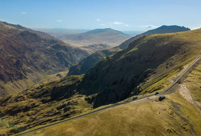 View of Snowdon with the Mountain Railway Track - Scotland Wales London Itinerary BritRail Pass