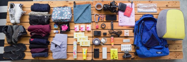 Flatlay of All Travel Essentials - Travel Packing List