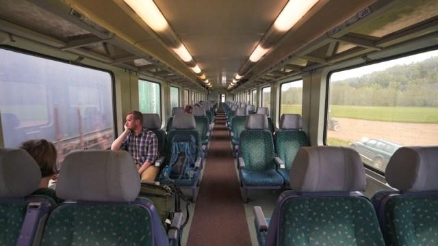 regional train interior - eurail pass guide