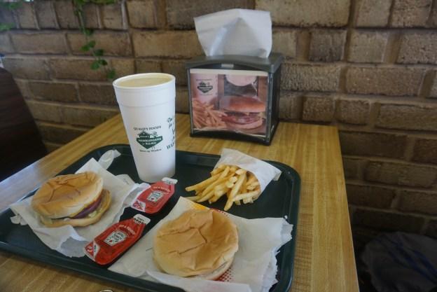 Our burgers, fries and milkshake