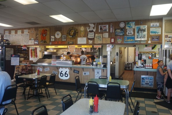 Inside the Cozy Dog Drive In