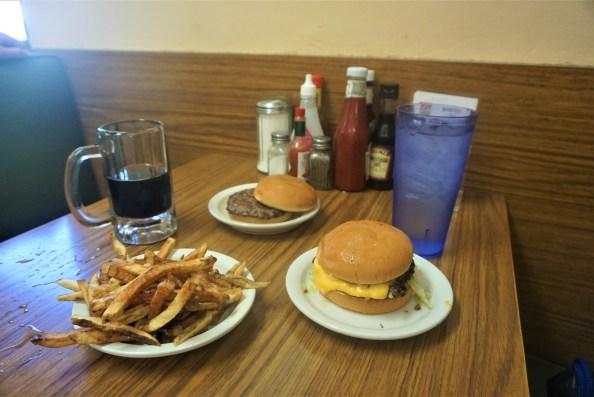 Burgers, fries and rootbeer at Brownies Hamburgers in Tulsa, Oklahoma