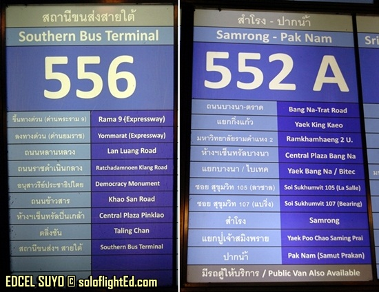 bus numbers at the Transport Center