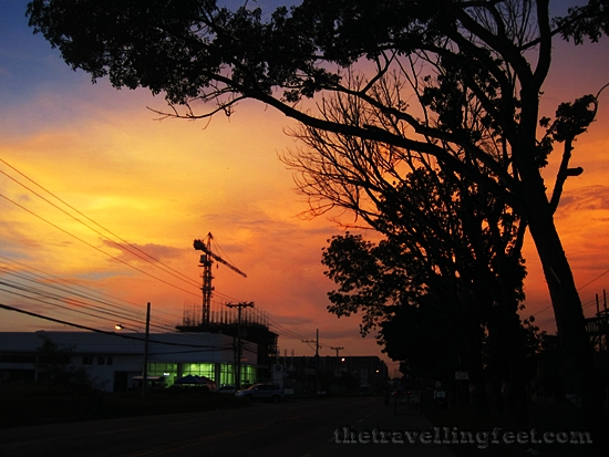 sunset in CDO