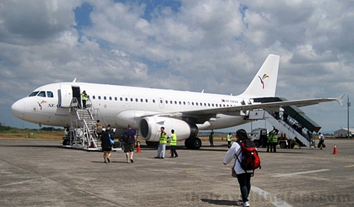 Tiger Airways Clark to Bangkok plane via SEAIR
