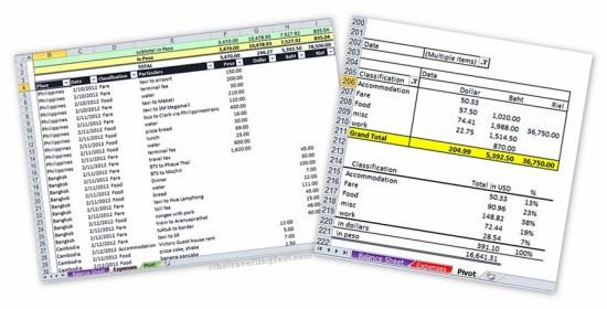 excel budget sheet