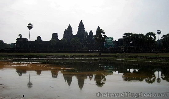 angkor wat temple in the morning